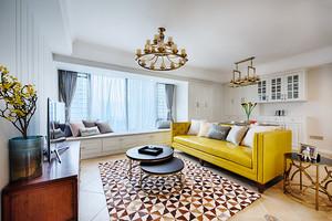 144平米欧式风格精装三室两厅室内装修效果图赏析