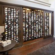 美式风格别墅室内精致酒柜设计装修效果图