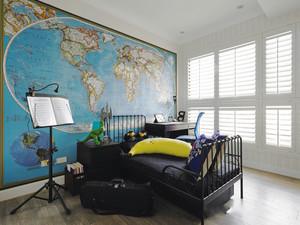 美式风格时尚创意卧室背景墙装修效果图欣赏