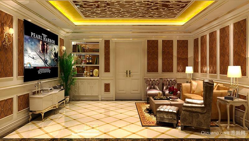 300平米欧式风格精致别墅室内装修效果图赏析