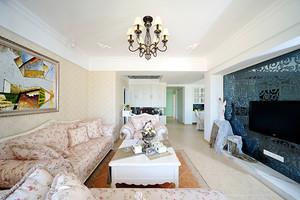 99平米欧式田园风格精美两室两厅室内装修效果图