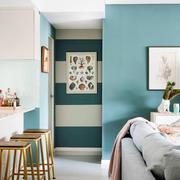 清新风格简约室内吧台装修效果图欣赏