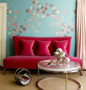 现代风格时尚客厅沙发背景墙装修效果图赏析
