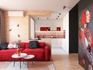 78平米现代风格小复式楼室内装修效果图赏析