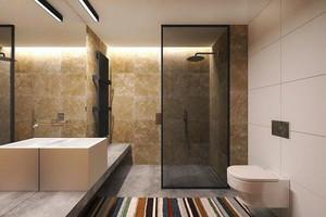 现代风格精致卫生间装修效果图欣赏