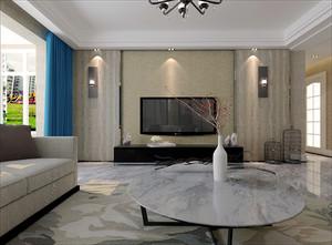 138平米新中式风格简约两室两厅室内装修效果图