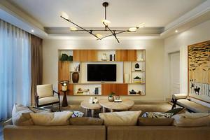 155平米新中式风格复式楼室内装修效果图案例