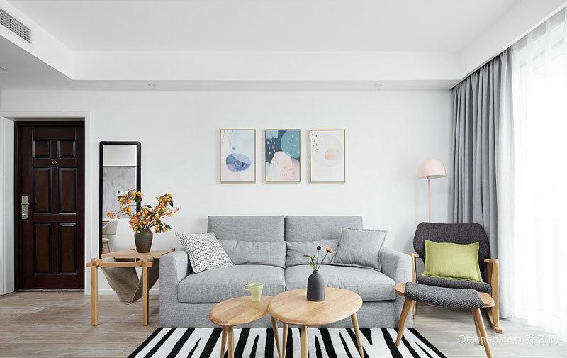 78平米宜家风格简约清爽两室两厅室内装修效果图