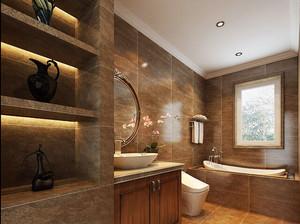 中式风格大户型古典卫生间装修效果图欣赏