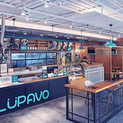 后现代风格精致快餐店装修效果图赏析