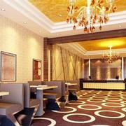 简欧风格精致酒店餐厅装修效果图