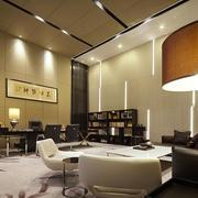 现代风格精致老总办公室装修效果图