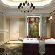 中式风格精致美容院装修实景图