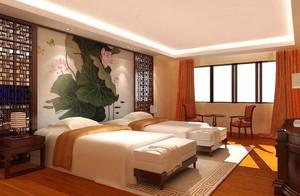 中式风格宾馆标准间装修效果图鉴赏