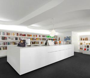 90平米现代风格书店装修效果图赏析