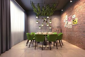 宜家风格简约温馨餐厅包厢装修效果图