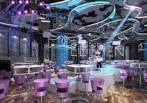 现代风格时尚酷炫音乐酒吧装修效果图