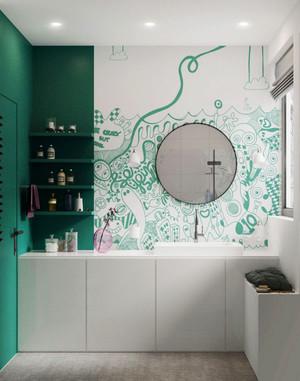 78平米北欧风格清新时尚公寓装修效果图赏析