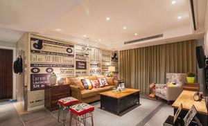 后现代风格创意复古客厅背景墙装修效果图赏析