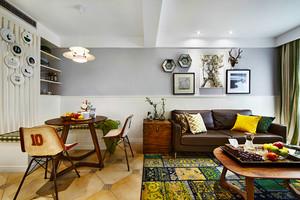 121平米混搭风格创意时尚三室两厅室内装修效果图