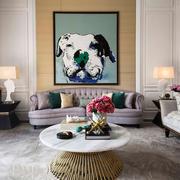 简欧风格精致大户型客厅背景墙装修效果图