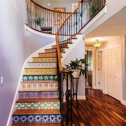 美式风格精致别墅楼梯设计装修效果图赏析