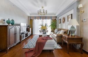 美式风格复古精致三室两厅室内装修效果图案例