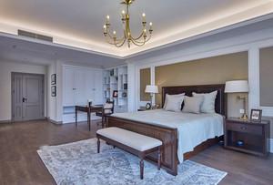 美式风格大户型卧室书房一体装修效果图赏析