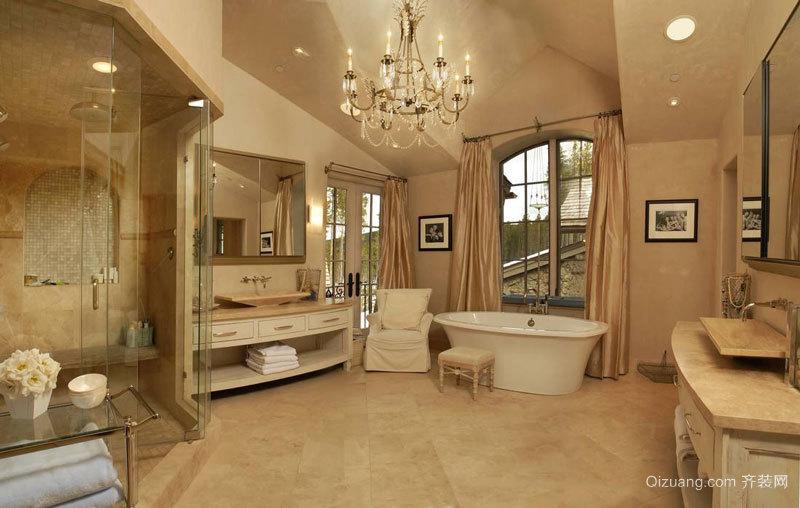 欧式风格超豪华别墅卫生间装修效果图赏析