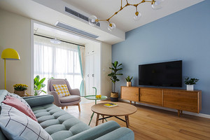 99平米清新风格舒适三室两厅室内装修效果图赏析