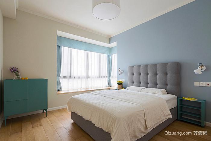 99平米清新風格舒適三室兩廳室內裝修效果圖賞析