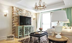 160平米清新美式风格精致大户型室内装修效果图