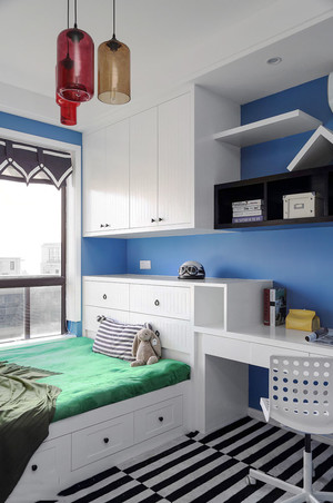 清新风格时尚榻榻米卧室装修效果图赏析