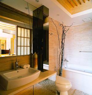 79平米日式风格禅意两室两厅室内装修效果图