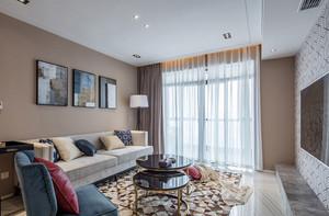 109平米现代简约美式风格两室两厅室内装修效果图
