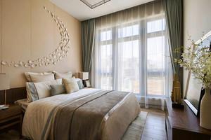 157平米新中式风格精装四室两厅室内装修效果图