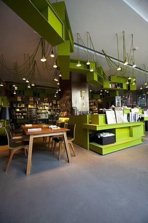 现代简约风格小型书店设计装修效果图