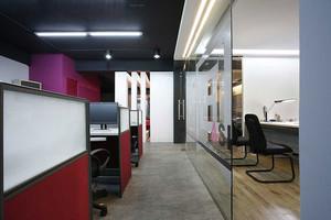 现代简约风格办公室玻璃隔断设计装修效果图