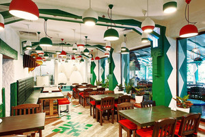 混搭风格精致西餐厅装修效果图赏析