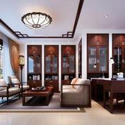 中式风格古朴精致客厅装修效果图欣赏