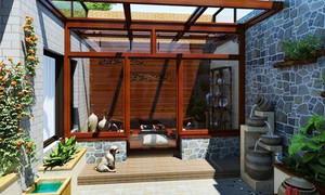 中式风格阳台花园装修效果图赏析