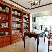 美式风格古典精致书房装修效果图欣赏