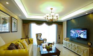欧式风格精美三室两厅室内装修效果图赏析