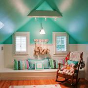 清新美式风格别墅精美飘窗设计装修效果图
