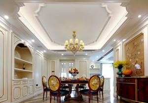 新古典主义风格大户型餐厅吊顶装修效果图