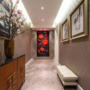 新中式风格古典大气玄关设计装修效果图