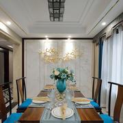 中式风格古典精美餐厅背景墙装修效果图赏析