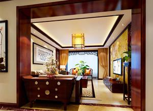 100平米中式风格古朴精致室内装修效果图
