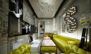 现代简约风格时尚KTV包房背景墙装修效果图