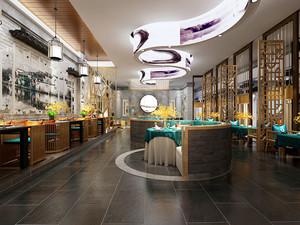100平米中式风格中餐厅装修效果图赏析